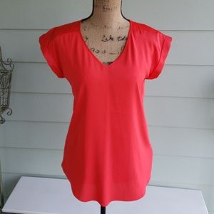 Express red satin top small